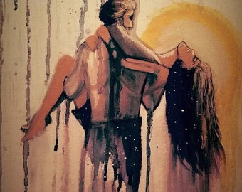 Universal love- Painting by Lizy J Campbell. Wall Art