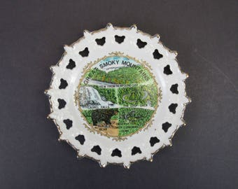 Vintage Great Smoky Mountains Plate (E3235)
