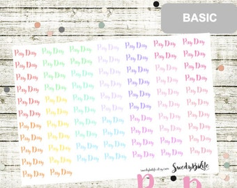 B25 Pay Day Stickers, perfect for any Planner