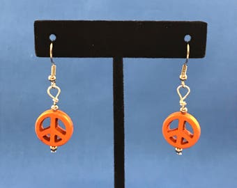Peace Sign Earrings choose your color