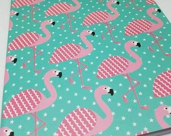 Tropical Summer Flamingo A5 Plain Notebook