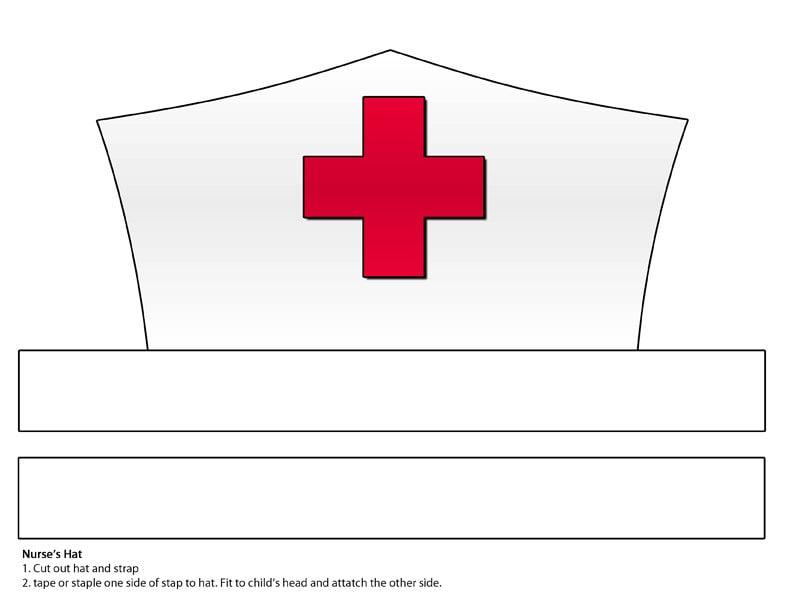 DIGITAL DOWNLOAD Paper Nurse\'s Hat Printable