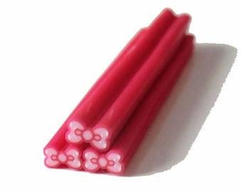 1 x node fuschia polymer clay cane