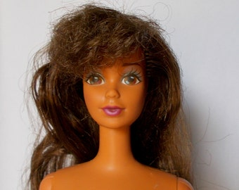 Vintage Teresa Barbie Steffie Face Hispanic Doll Exotic Brown Hair