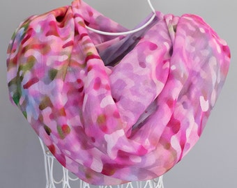 Shawl wrap.  Scarves for women.  Wedding bridal party.  Abstract Floral Photography.  Shown in Pink Wildflower Design.