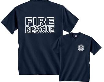 Fire Rescue Firefighter Official Firemen Gear T-Shirt #247