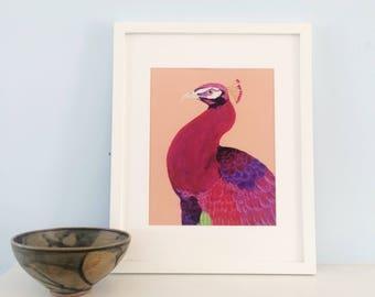 Celeste | Animal Fine Art Print | Wall Art | Home Decor | Modern | Acrylic Painting | K. Gehling | 8x10