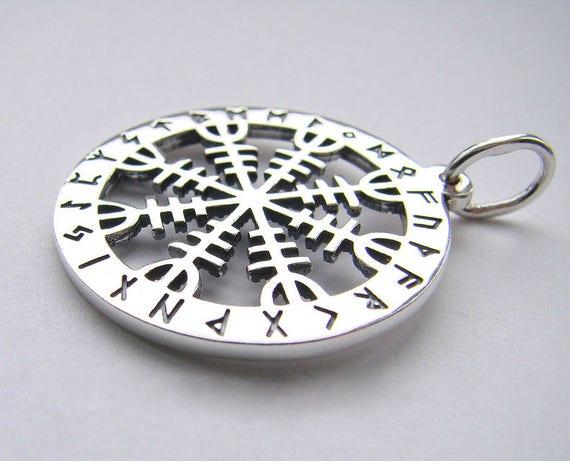 The helm of awe aegishjalmur viking pendant sterling silver aloadofball Images