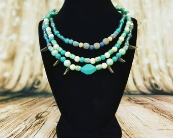 Essential Oil Diffuser Jewelry Stretchy Necklace Set