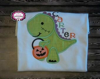Boy Halloween Shirt, Dinosaur Shirt, Dinosaur Halloween Shirt, Trick or Treat Shirt, My First Halloween