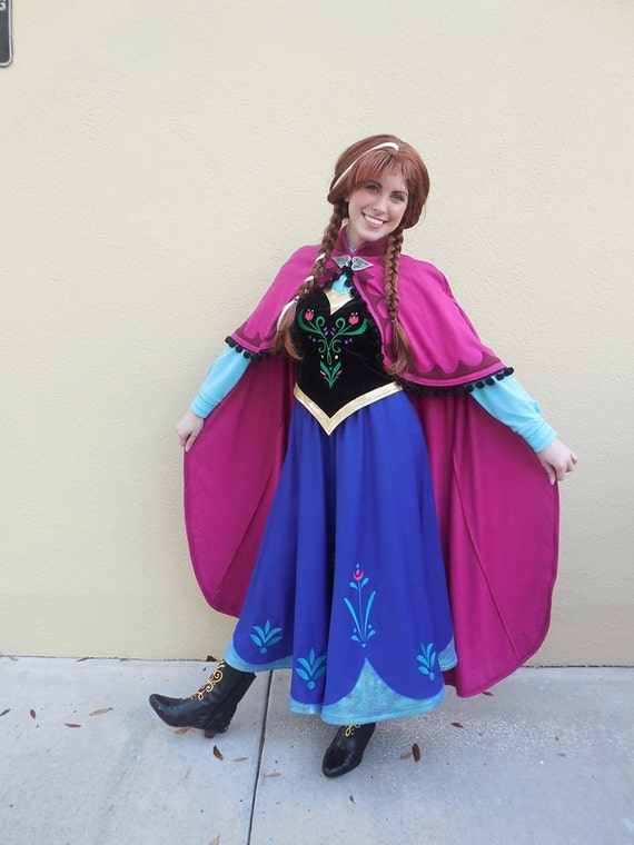 sc 1 st  Etsy & Anna Frozen Cosplay Halloween Princess Costume