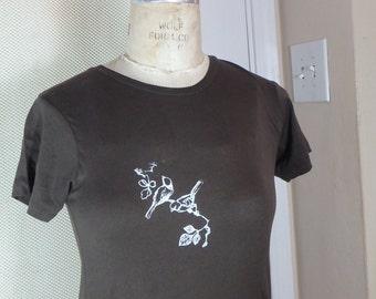 Women's Alternative Apparel T-shirt with silkscreened birds