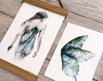 """Print + original set - """"Pride"""" - Watercolor illustration"""