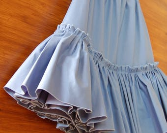 Cornflower Blue Cotton Petticoat Skirt
