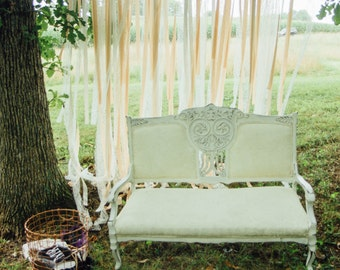 Wedding Backdrop - Custom Match your Wedding Colors - Ribbon Backdrop - Ribbon Curtain