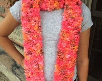 Hand-Knit Women's Wool Scarf