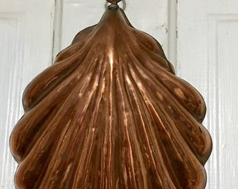 Vintage Real Copper Shell Wall Hanging