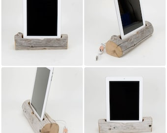 Driftwood Docking Station for a Tablet