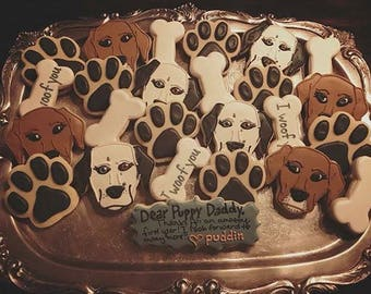 Custom Dog/Puppy Cookies - Decorated Sugar Cookies - 1 Dozen