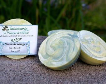 Cedarwood, lavender shaving SOAP.