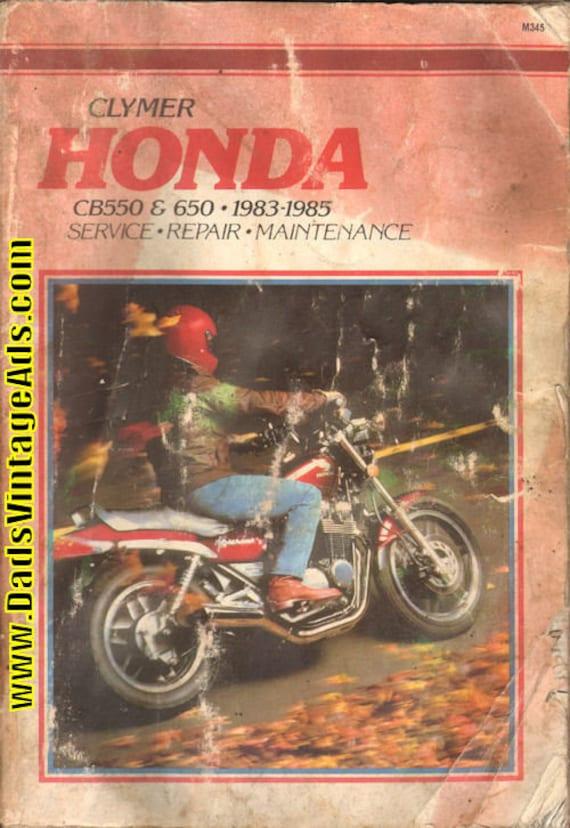 1983-1985 Honda CB550 & CB650 Clymer Service and Repair Manual #mm126