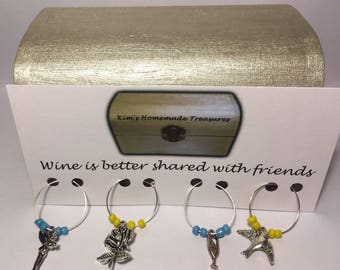 Selection of Wine Glass Charms, Dinner Parties, Party,