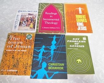 6 Vintage Books Religious Books Instant Collection - CLEARANCE CLOSEOUT