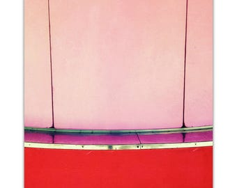 photography, valentine gift mid century modern, carnival, summer, abstract, modern, red, pink, valentine art // Concession, 24x16 photograph