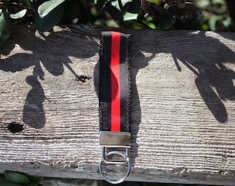 Red line fob key chain