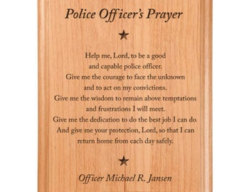 Police Prayer Etsy