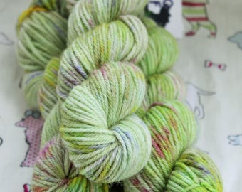 Hand dyed yarn, Wool and Alpaca blend. 50gms DK