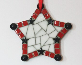 Handmade Mosaic Star Ornament