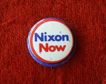 Political Campaign Button 1972 Richard Nixon Presidential Candidate