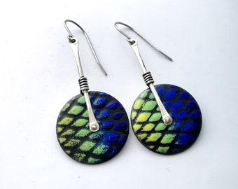 Enamel Earrings, Everyday Earrings, Simple Earrings, Handmade Earrings, Dangle Earrings, Colorful earrings, Boho Earrings