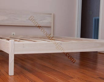 QUEEN PLATFORM BED (with headboard)