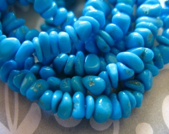 10-50 pcs, SLEEPING BEAUTY Nuggets, Turquoise Beads, Luxe AAA, 4-5.5 or 5.5-7.5 mm, Natural Genuine, aqua robins egg blue solo