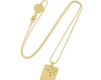 14k Gold Diamond Sagittarius Constellation Necklace, SS ConstellationJewelry,Zodiac Jewelry,Astrology Jewelry,Zodiac Constellation Necklace