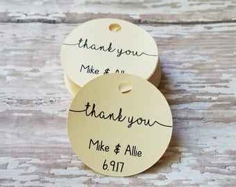 Mini Thank You Tags, Wedding Favor Tags, Cute Thank You Tags, Party Favor, Wedding Shower, Bridal Shower, Baby Shower, Simple Thank (220)