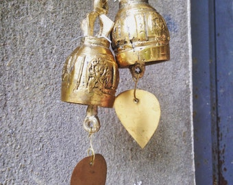 Buddhist Bells Ornaments from Thailand ,1 pcs Spiritual blessings and protection with a calming chime.Perfect for yoga, meditation and zen
