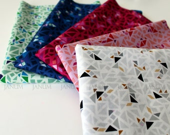 Fat quarter bundle of Puzzle from the Geogram fabric collection by Samarra Khaja for Lecien -31449L