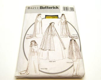 Butterick B4211 Making History pattern - 19th and Early 20th Century Bridal Veils