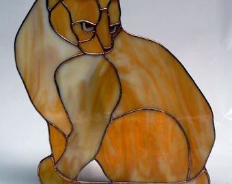 Tabby Stained Glass Cat