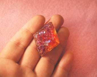 Glitter Gem Resin Pin Brooch