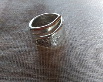 Handmade vintage spoon ring, antique silverware, jewelry, for her, gift