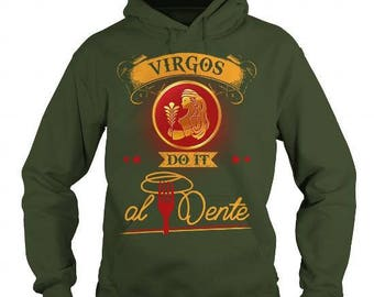 Virgos Do It Al Dente Birthday Gift Idea For Virgo Zodiac Sign Who is Chef or Like to Cook Pasta Food and into Astrology and Horoscope