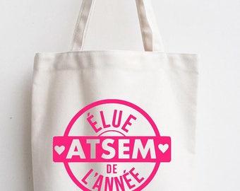 Gift nanny school year cotton tote bag