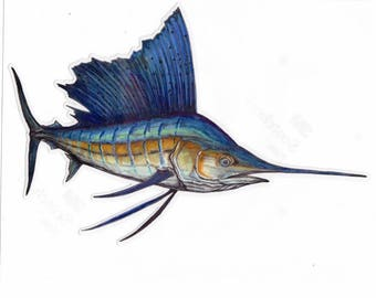 "9"" Sailfish Decal"