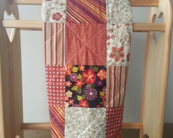 Fall Floral Tummy Time Baby Quilt