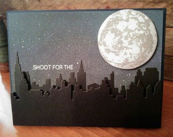 Shoot for the Moon Graduation/Acheivement Card