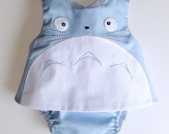 Blue Totoro baby outfit , baby totoro outfit, my neighbor totoro, studio ghibli, new baby gifts, totoro baby clothing